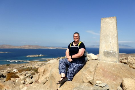 Mt Kynthos at the top