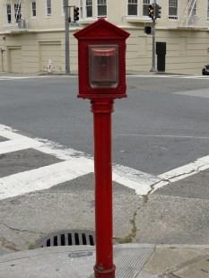Street corner fire alarm