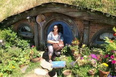 Small scale hobbit-hole front yard