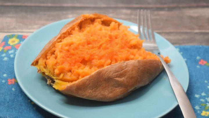 sweet potato in the microwave