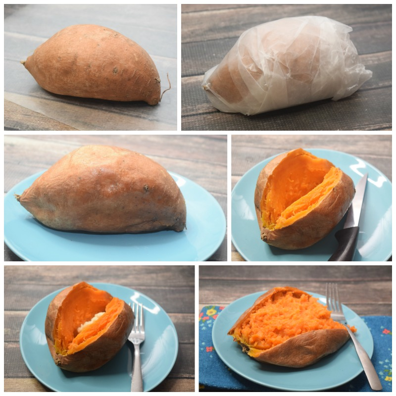 sweet potato in the microwave just