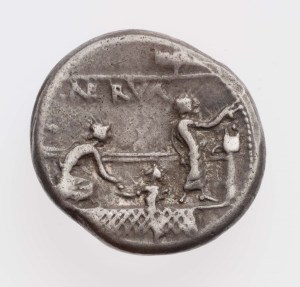 Election Day in ancient Rome looked a bit different than ours does today. On this coin (about 113–112 B.C.), you can see a voter on the right dropping a ballot (tabella) into a voting box (cista). Another voter on the left advances to receive a tabella from a third figure (rogator). Museum of Fine Arts, Boston