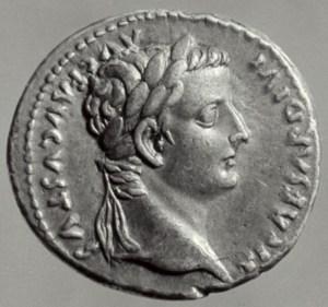 Roman. Denarius 'Tribute Money' of Tiberius AD 14-37