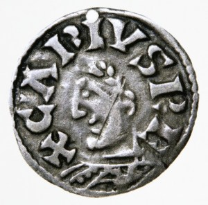 French Carolingian Dinar of Charles the Bald - 737 AD