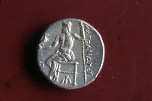 Greek - Silver coin of Alexander the Great -334 -- 295