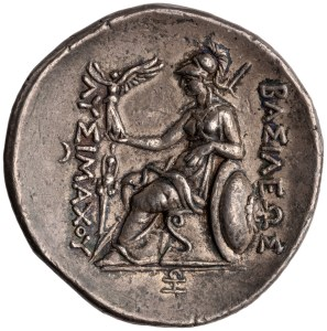 Greek. Silver Tetradrachm of Lysimachus, Pergamum, Reverse. 287 BC - 282 BC. American Numismatic Society. (Public Domain)