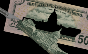 Absent Capitol - Congress removed from 50 dollar bill