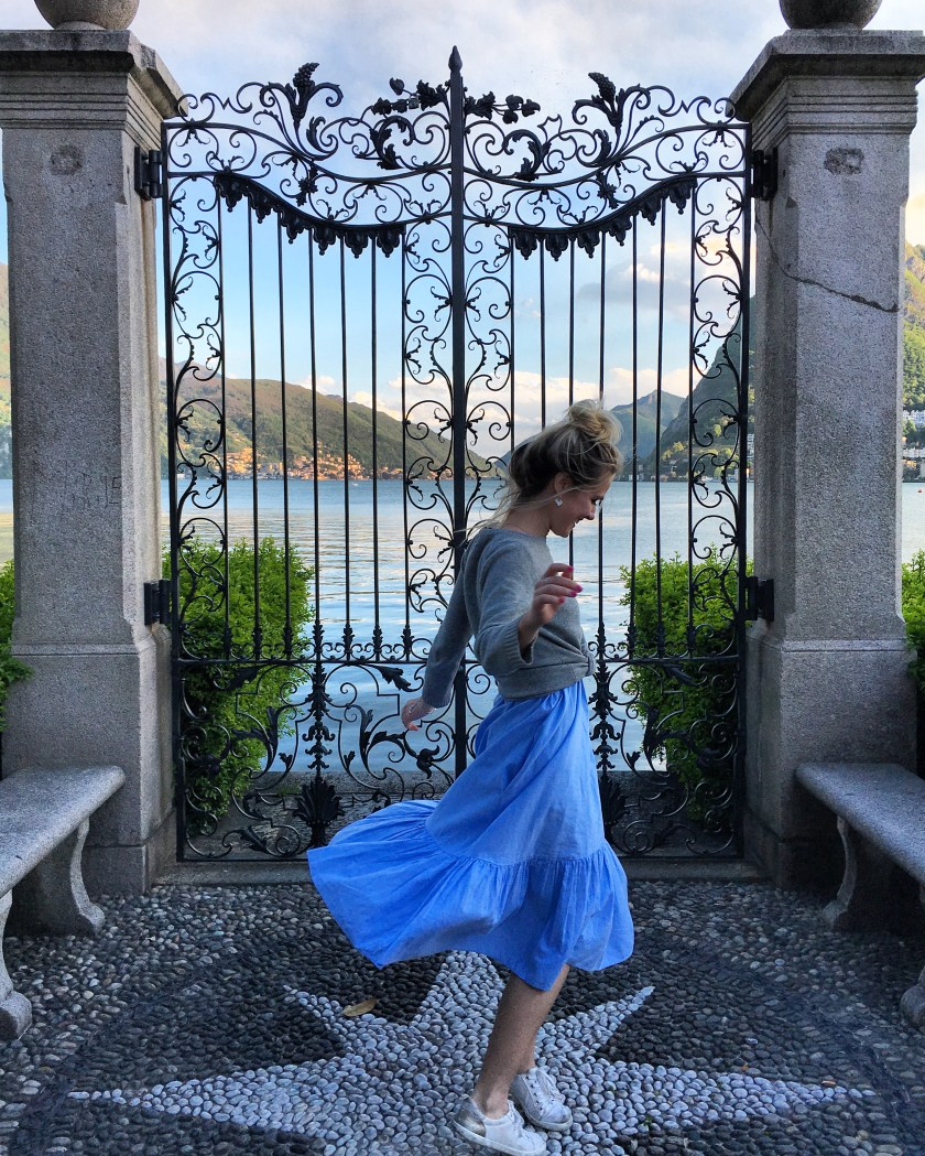 Twirling in the gardens of Lugano, Switzerland