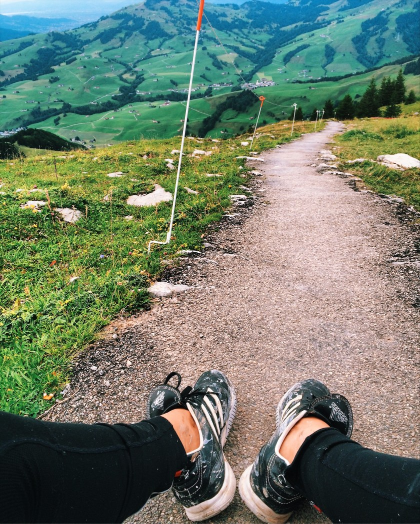 Resting at the top of Ebenalp in Appenzell, Switzerland