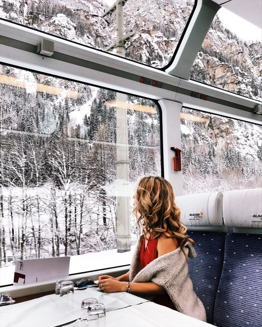 Traveling on the Glacier Express