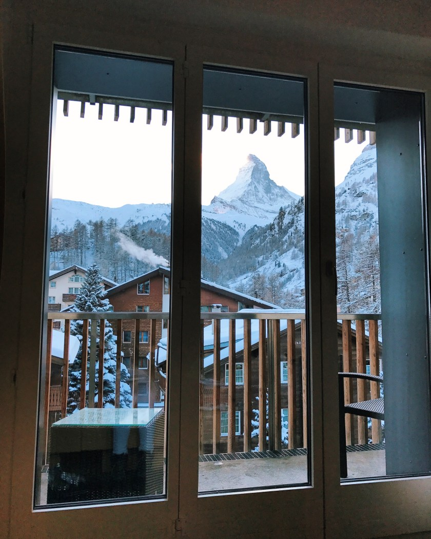 View of Zermatt Matterhorn from Hotel Bristol