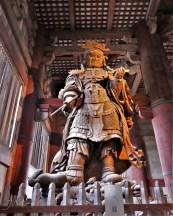 Komokuten, a statue in the Great Buddha Hall in the Tōdai-ji temple complex in Nara, Japan.