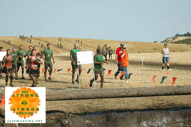Image of Laura Coleman running in the Tough Mudder race
