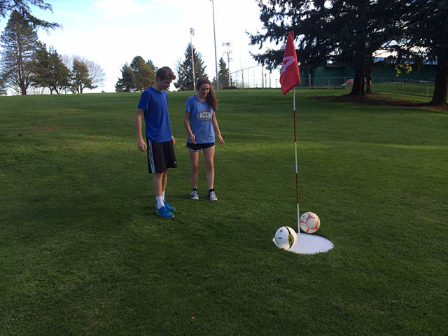 Image of young foot golfers