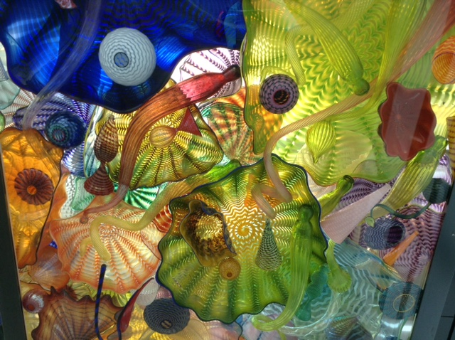 Image of sea creature inspired glass by Chihuly