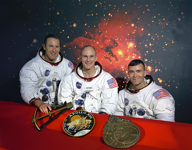 Nasa image of the original Apollo 13 Prime crew,