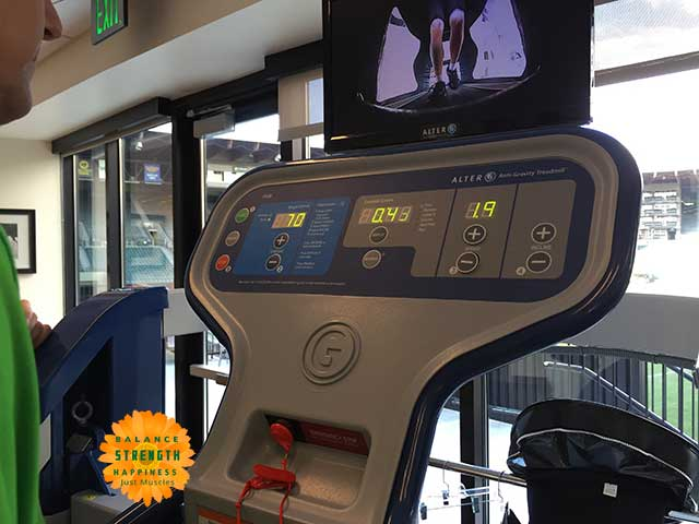 Image of air treadmill controls