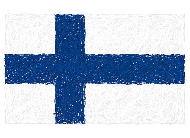 Illustration of Finnish Flag