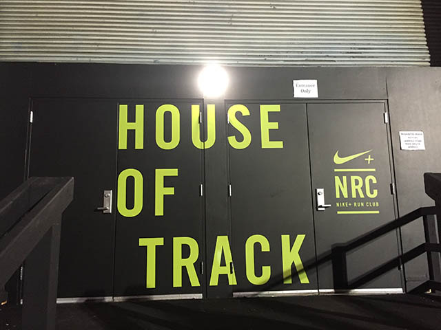 Image of house of track sign
