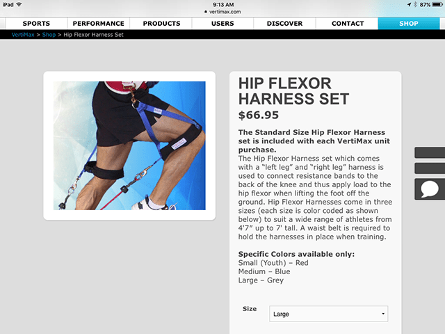Image of hip flexor harness product