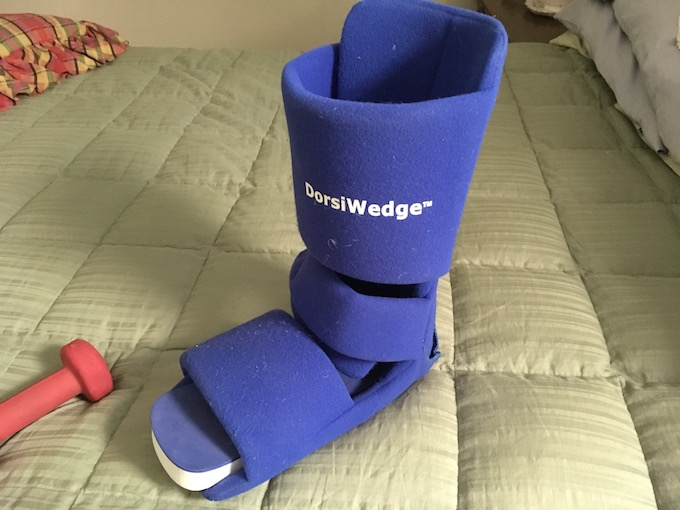 image of a protective boot for foot injuries