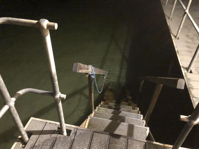 Image of stairs leading to a lake