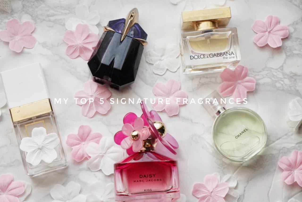 My top 5 signature fragrances