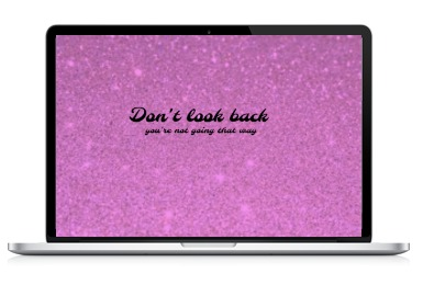laptop art dont look back JustNadiene