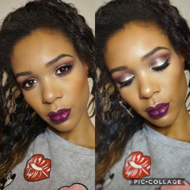 Jouer cosmetics purple eye look