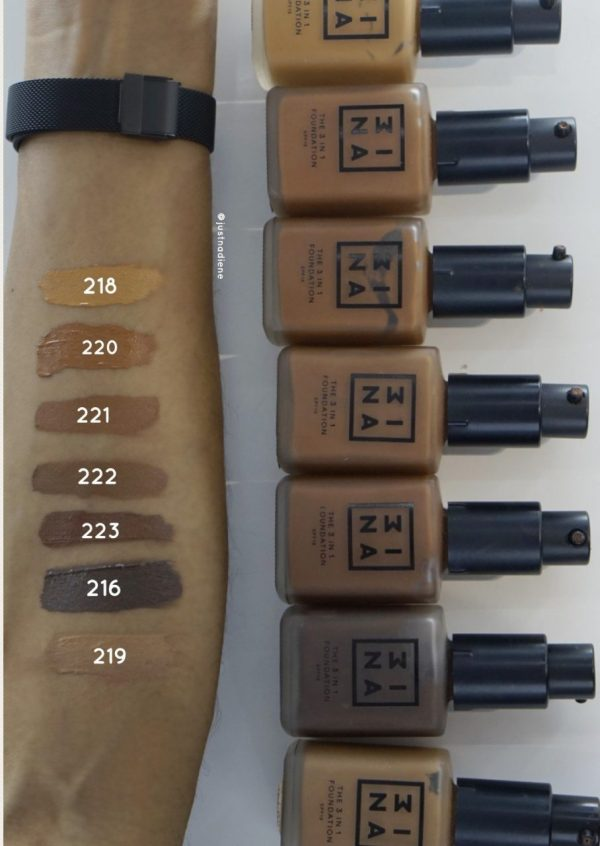 3ina The 3 in 1 Foundation – Swatch & Review
