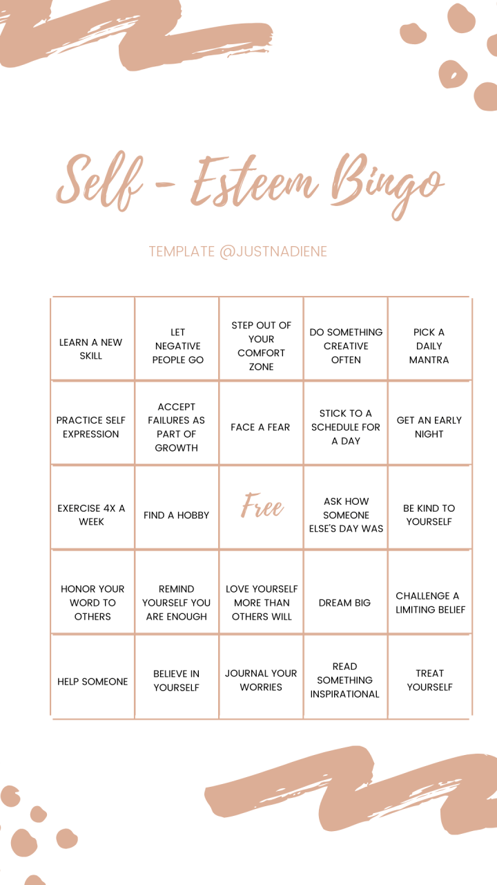 self-esteem-bingo