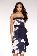 midi navy dress