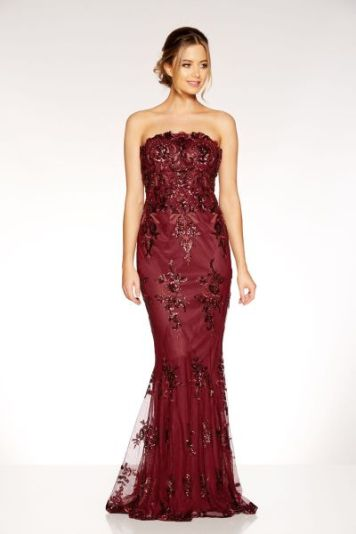 Quiz clothing red sequin dress