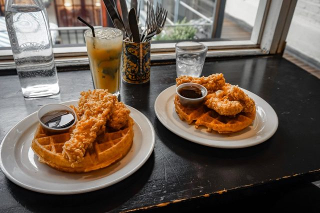 chicken and waffles stax diner