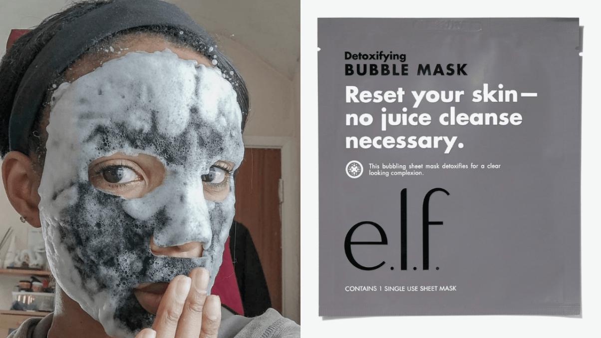 elf bubble sheet mask