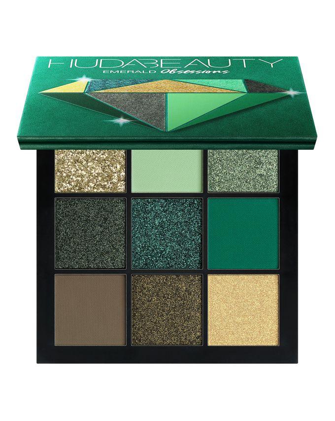 emerald obsession palette huda beauty