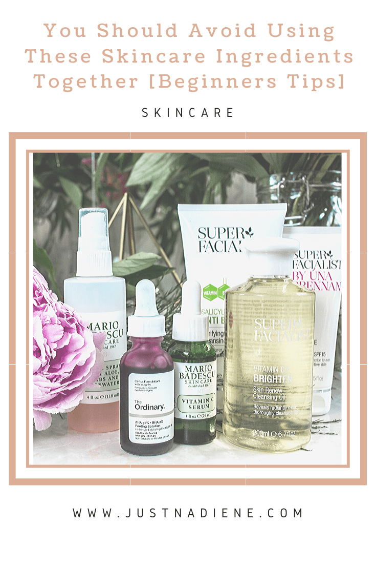 skincare-ingriedients-to-avoid-using-together