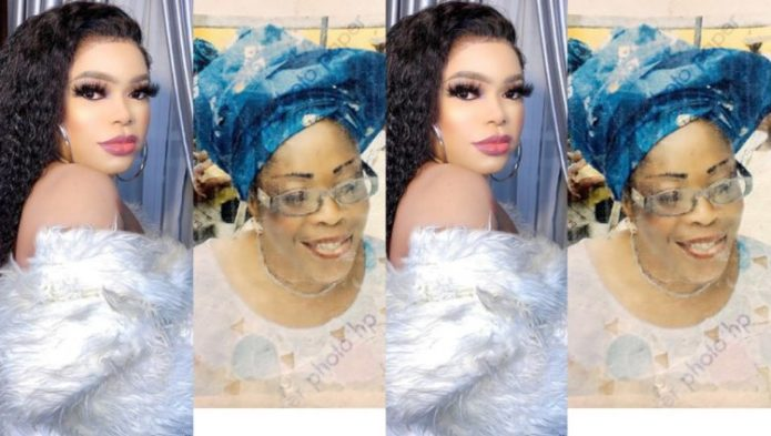 SCREENSHOT: Bobrisky shares a Photo of her late Mother, I look so much like my Mom and I misses her