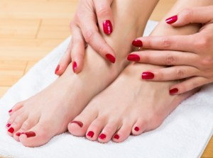 gel polish op nageltjes en teentjes