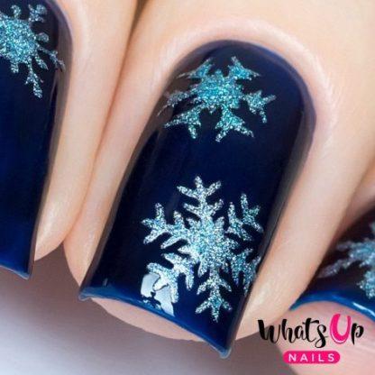 Merry Snowflakes Stickers - neglevinyl med snefnug