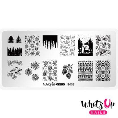 Icy Wonderland stampingplade vinter