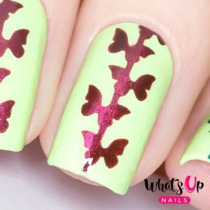 Butterfly Chain Stencils - neglevinyl med sommerfugle