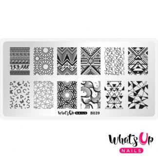 B039 Geometric Trance - stampingplade abstrakt mønster