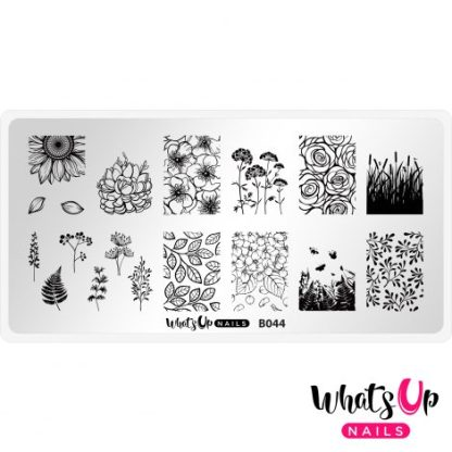 B044 From ground comes life - stampingplade blomster natur