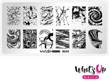 B059 Thirsty Texture - Stampingplade med abstrakte mønstre