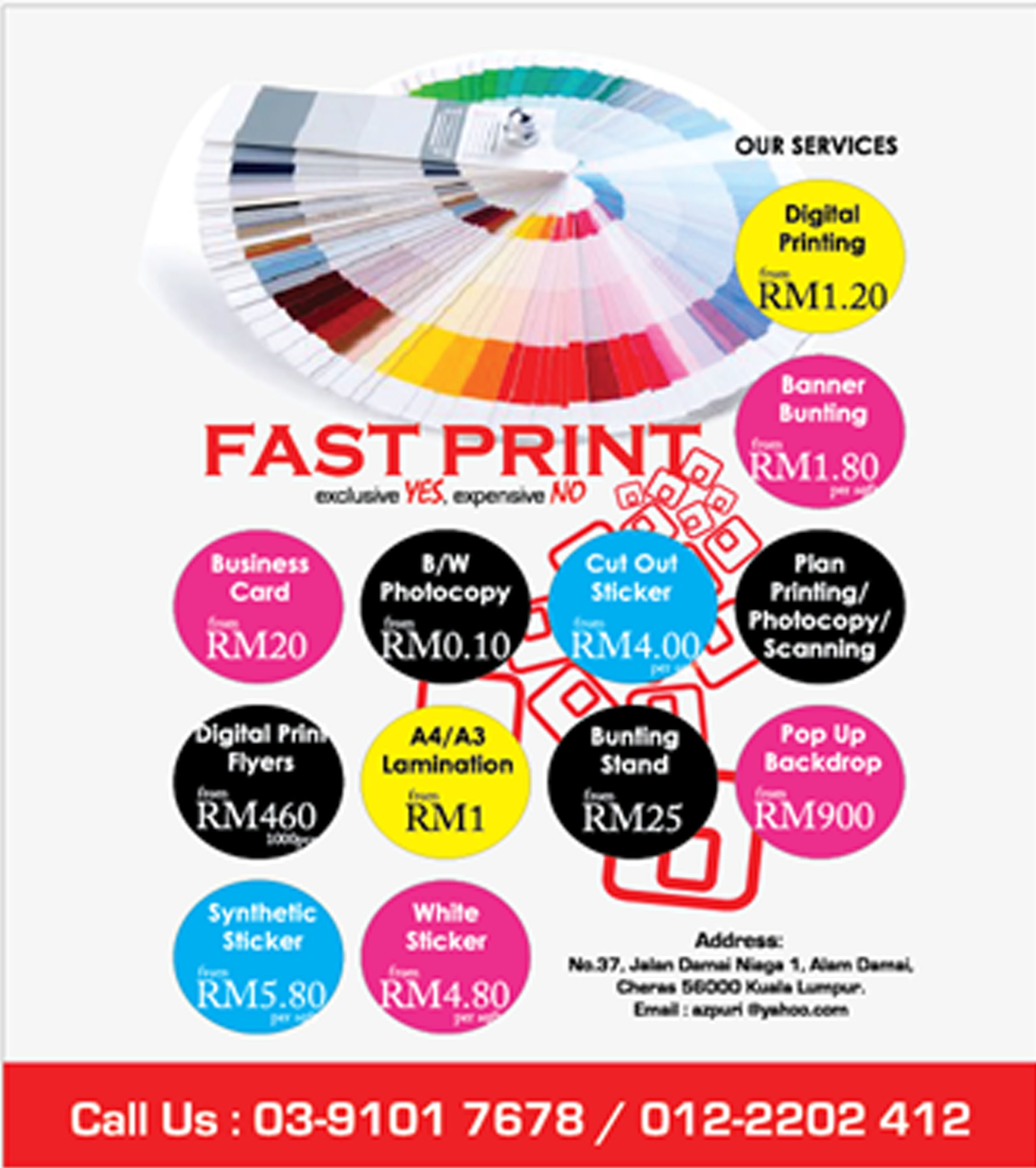 fast print exclusive yes expensive no