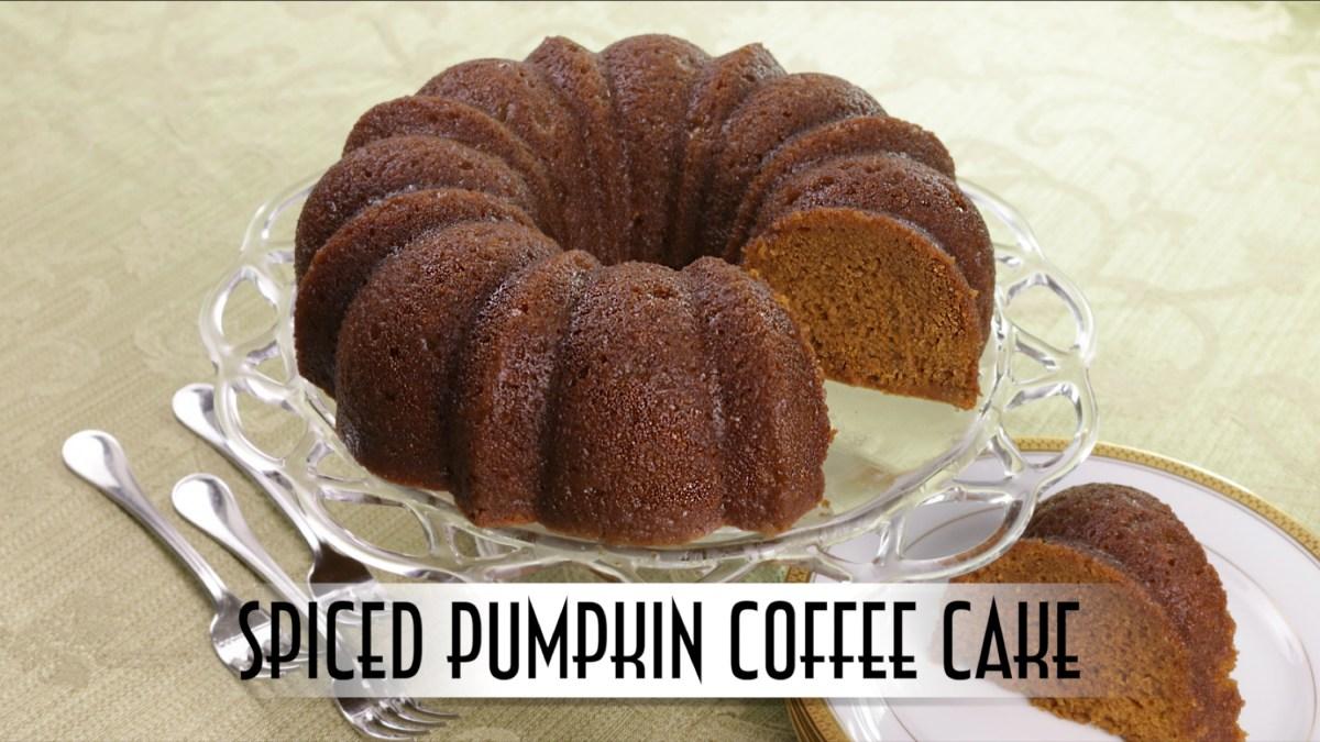 Spiced Pumpkin Coffee Cake | with Rum Butter Glaze