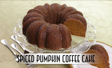 Spiced Pumpkin Coffee Cake with Rum Butter Glaze