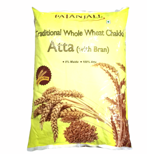 Patanjali Traditional Whole Wheat Chakki Fresh Atta With Bran- 5kg