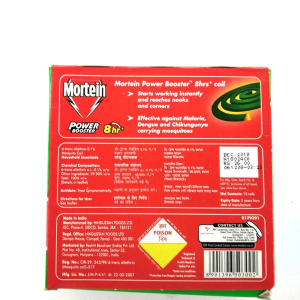 Mortein Power Booster – 8hr coil